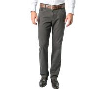 Herren Jeans Baumwoll-Stretch dunkelgrün