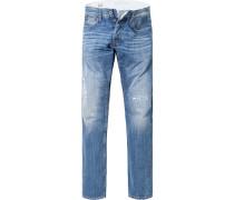 Herren Jeans, Slim Fit, Baumwolle, jeansblau