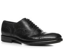 Herren Schuhe Oxford, Büffelleder gecrasht, nero schwarz