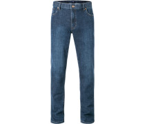 Herren Jeans Seth, Tailored Fit, Baumwoll-Stretch, dunkelblau
