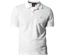 Herren Polo-Shirt, Baumwoll-Piqué, weiß