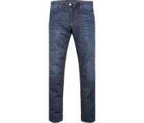 Herren Jeans Modern Fit Baumwoll-Stretch dunkelblau