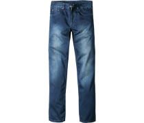Herren Jeans, Classic Comfort Fit, Baumwolle, jeansblau