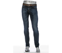Herren Jeans Slim Fit Superfit Denim indigo