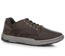 Herren Schuhe Sneaker, Leder, dunkelbraun