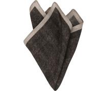 Herren Accessoires Einstecktuch, Wolle, schwarz meliert