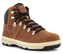 Schuhe Schnürboots, Leder GORE-TEX, cognac