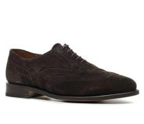 Schuhe Oxford Veloursleder mokka