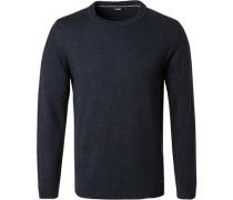 Pullover Wolle-Kaschmir dunkel meliert