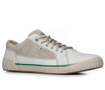 Herren Schuhe Sneaker Leder-Mix beige