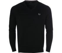 Herren Pullover, Baumwolle, schwarz