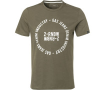 T-Shirt Baumwolle oliv