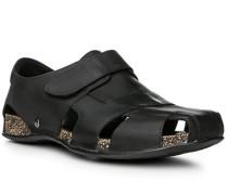 Herren Schuhe Sandalen, Nappaleder, schwarz