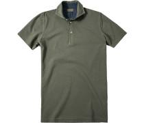 Herren Polo-Shirt Baumwoll-Piqué graugrün