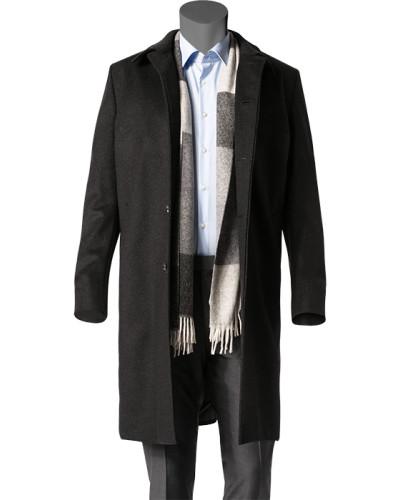 schneiders herren herren mantel schurwolle kaschmir anthrazit meliert grau grau reduziert. Black Bedroom Furniture Sets. Home Design Ideas