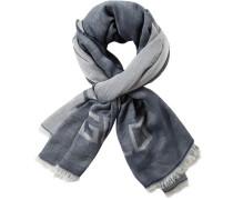 Herren Schal Baumwolle blau meliert braun