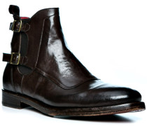 Schuhe Chelsea Boots, Leder, mogano