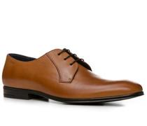 Herren Schuhe Derby Leder cognac