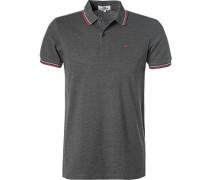 Herren Polo-Shirt, Baumwoll-Piqué, graphit grau