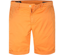 Herren Hose Shorts, Baumwolle, orange