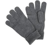 Herren Handschuhe, Merino-Schurwolle, mittelgrau meliert