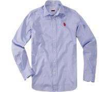 Herren Hemd Regular Fit Baumwolle hellblau