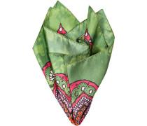 Accessoires Einstecktuch Seide grün gemustert