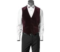 Herren Anzug Samt-Weste Baumwolle bordeaux rot,schwarz