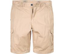 Herren Hose Cargo-Shorts Regular Fit Baumwolle sand