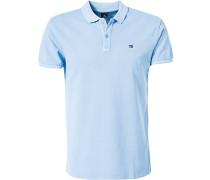 Herren Polo-Shirt Baumwolle hellblau