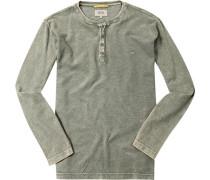 Herren T-Shirt Baumwoll-Piqué schilf meliert