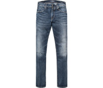 Herren Jeans Slim Fit Baumwoll-Stretch SUPERIOR FLEX indigo blau