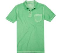 Herren Polo-Shirt, Body Fit, Baumwolle, grün
