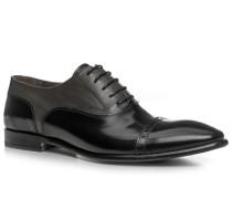 Herren Schuhe Oxfords Glattleder schwarz-grau