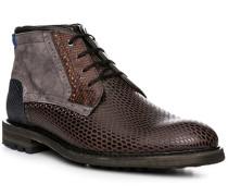Herren Schuhe Schnürstiefeletten Rindleder braun