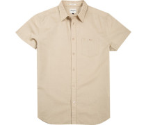 Herren Hemd Regular Fit Oxford sand beige