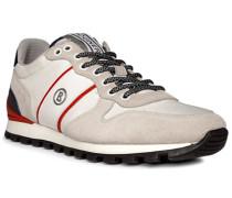 Schuhe Sneaker Leder-Textil greige