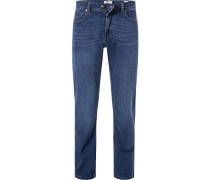 Jeans Regular Fit Baumwoll-Stretch dunkel