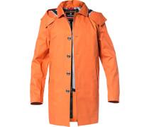 Herren Regenmantel, Baumwolle wasserdicht, orange