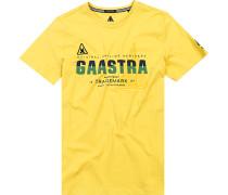 Herren T-Shirt, Baumwolle, gelb