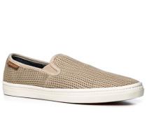 Herren Schuhe Slip Ons Textil beige
