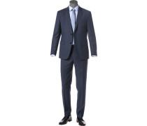 Herren Anzug, Regular Fit, Schurwolle, navy blau