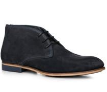 Herren Schuhe Desert-Boot Veloursleder dunkelblau blau,braun