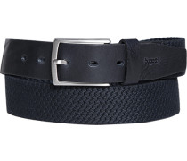 Herren Gürtel schwarz-navy, Breite ca. 3,5 cm blau