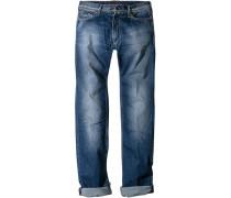 Herren Jeans Slim Fit Baumwoll-Stretch mittelblau
