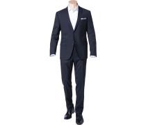 Herren Anzug, Sharp Fit, Schurwolle, nachtblau