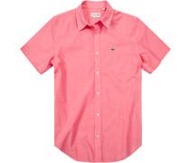 Herren Hemd Slim Fit Pin-Point rosé