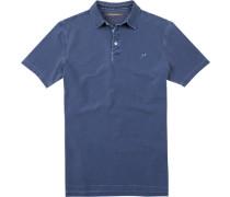 Herren Polo-Shirt, Baumwoll-Piqué, navy blau