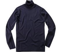 Herren Pullover Woll-Mix marine blau,blau