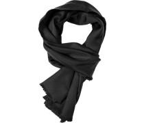 Herren Schal  Seide schwarz